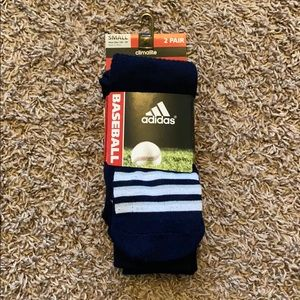 Dark Blue Adidas Baseball Sock. New w/ tags.